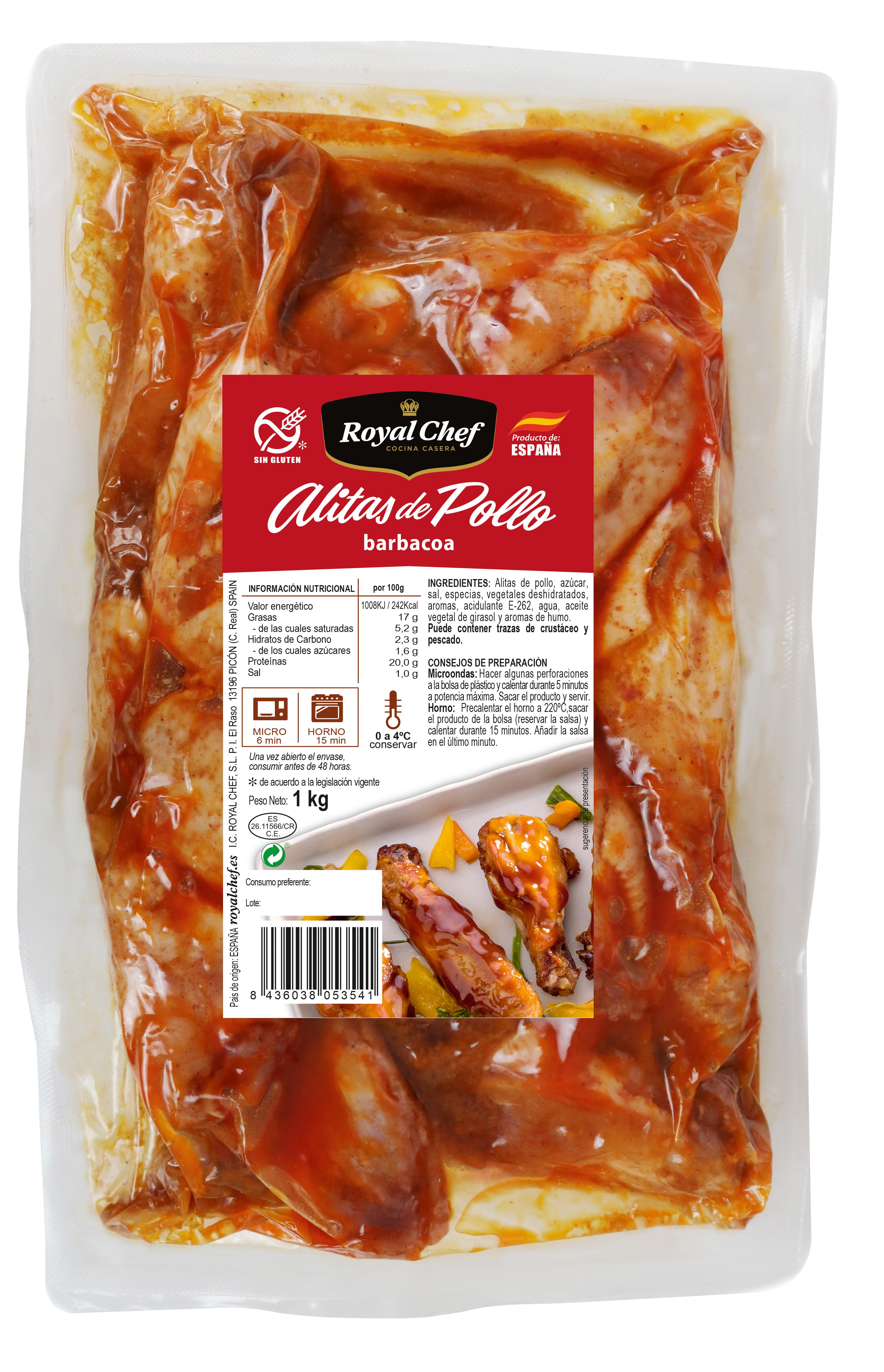ALITAS POLLO BARBACOA 1kg